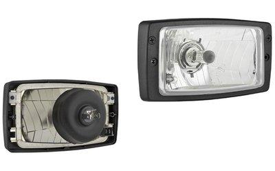 Headlamp H4 156x93x79mm + Frame