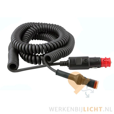 8m Spiral Cable + Deutsch-DT