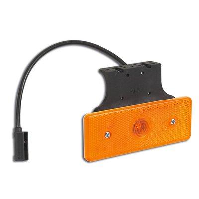 Led Side Marker Lamp Orange With Angled Bracket And Cable 10-30V