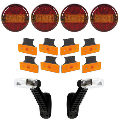 Trailer Lighting Set 14-part