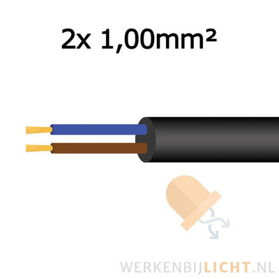 Cable 2x 1,00mm²