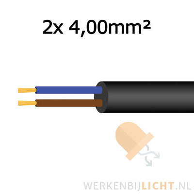 Cable 2x 4,00mm²