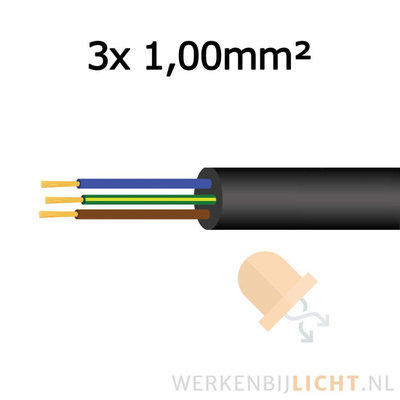 Cable 3x 1,00mm²
