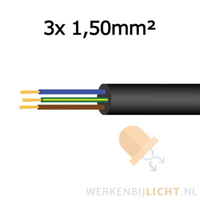 Cable 3x 1,50mm²