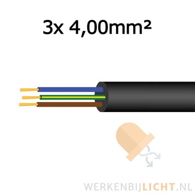 Cable 3x 4,00mm²