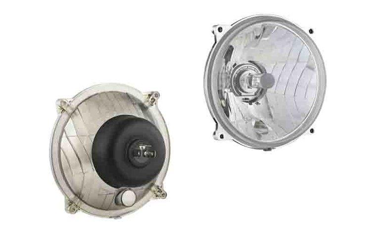 Headlamp H4 Ø150x77 4-bolts mounting