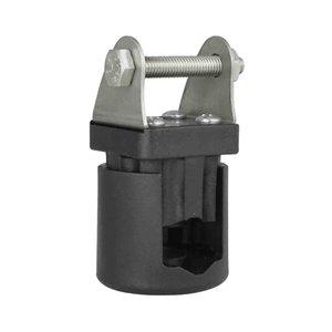 On-pipe holder Ø15-28mm