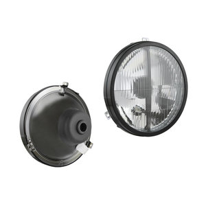 Headlight VW Transporter Tuning, Lampenglas: Ø182mm